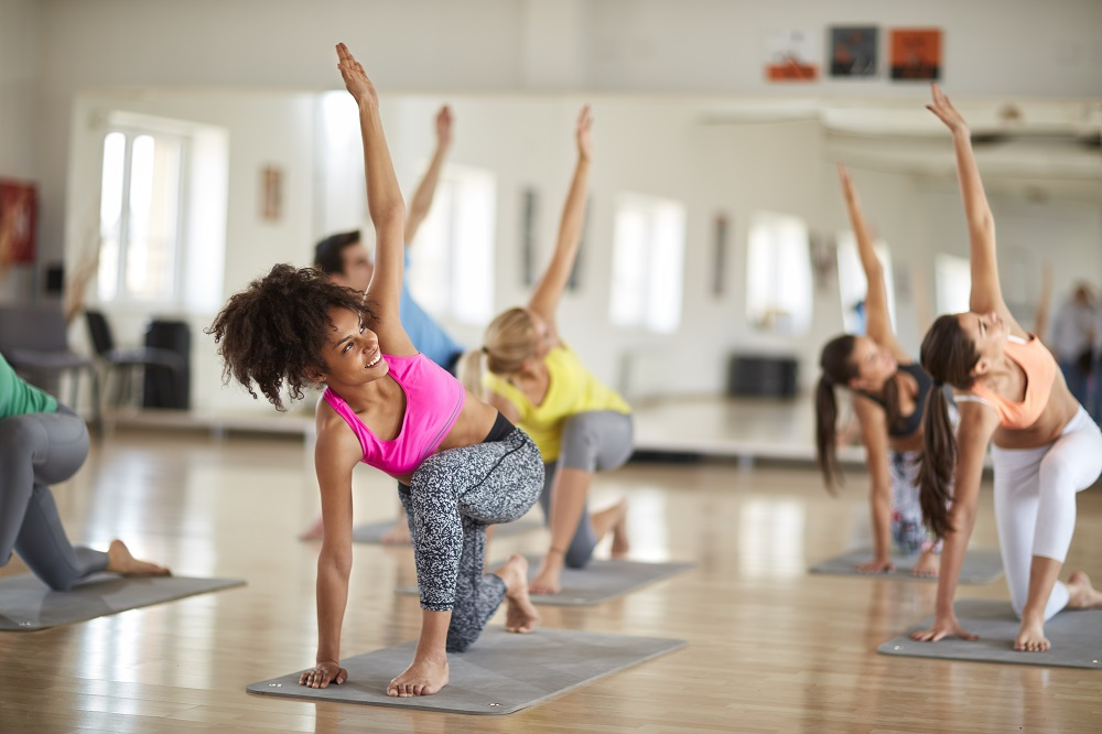 Yoga training in course